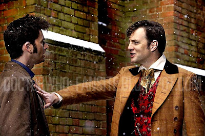 This looks as if David Morrisey's character recognises the Doctor. Another hint at him being the 11th Doctor maybe?