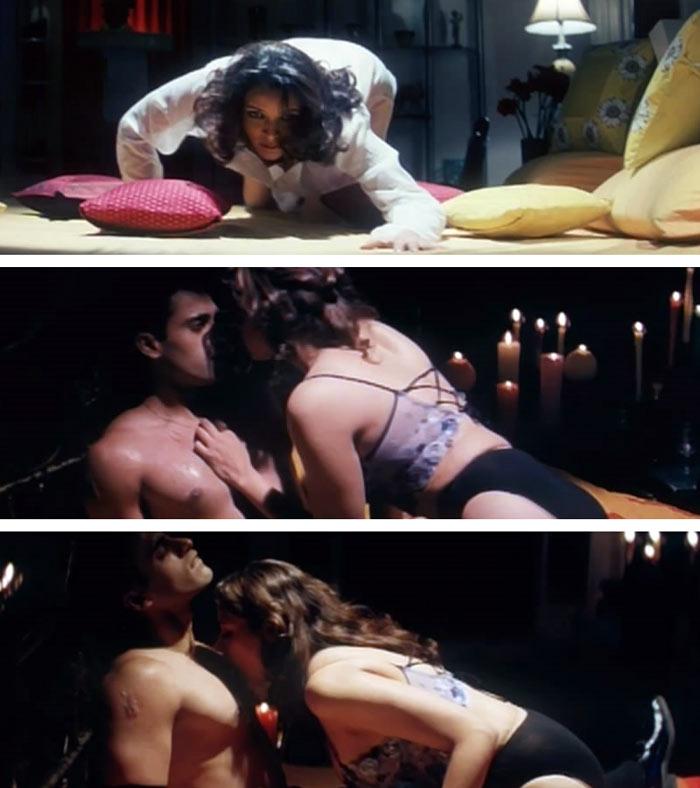 Surely sex scenes in hindi films !!!