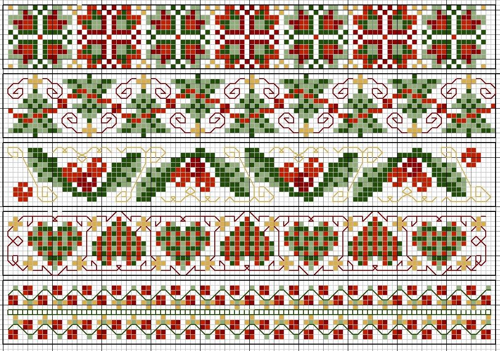 схемы вышивки узоров - Самое
