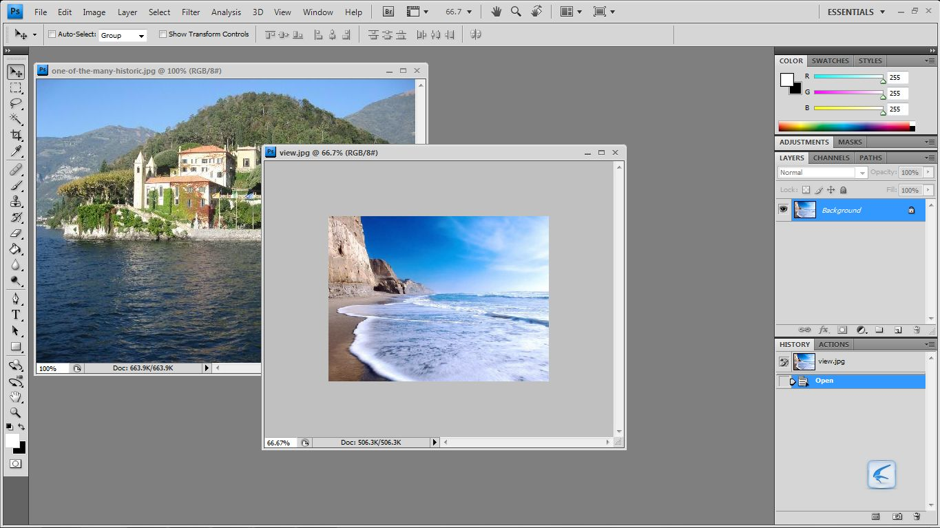 how to add two different layers in photoshop