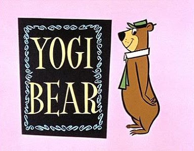 Opening title card from the original Yoga Bear cartoons, circa 1961.