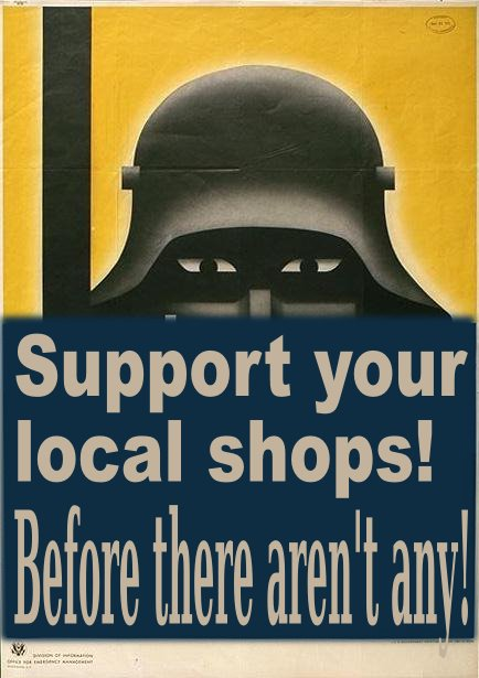 We support local brick and mortar stores -DO YOU?