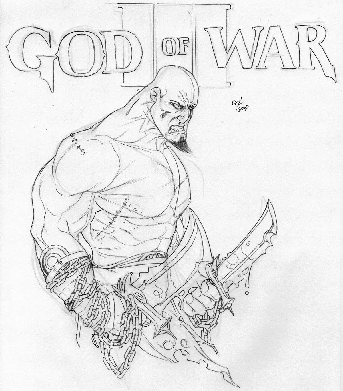 god of war coloring pages - photo#3