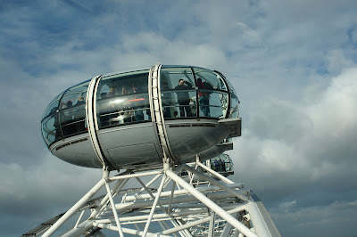 London Eye capsule up in the sky