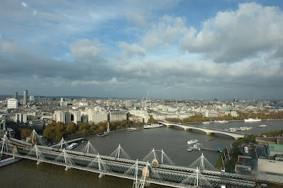 View of the Bridges on the Thames as seen from London Eye