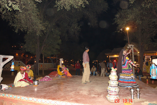 Photo of an Open air performance inside the tourist village of Chokhi Dhani