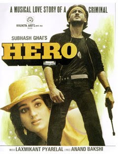 Hero - starring Jackie Shroff and Meenakshi Seshadri (1983)