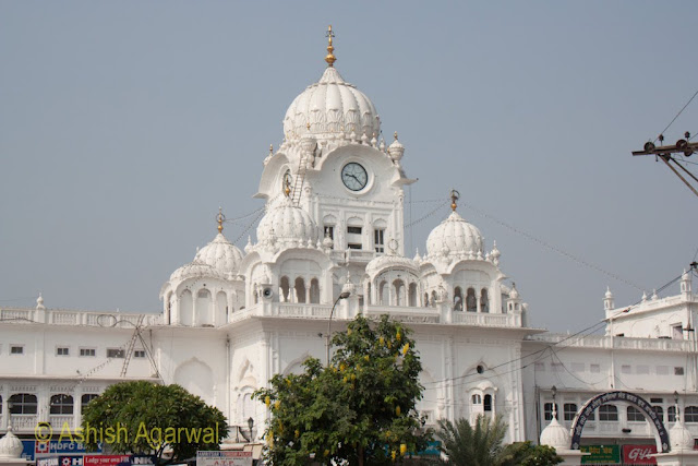 The clock tower that is also the main entrance to the Golden Temple complex in Amritsar