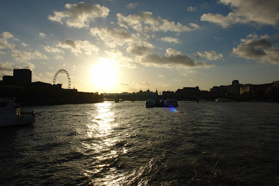 The dying moments of sunset over the Thames