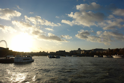 Sunset moving to darkness over the Thames