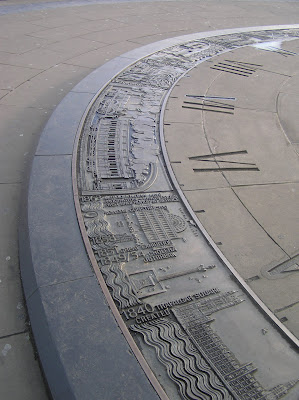 The time disc in London next to the Tower