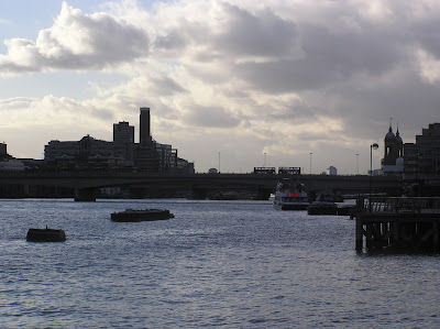 A general view of the Thames at dusk