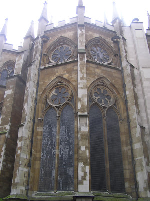Exterior architecture of Westminster Abbey