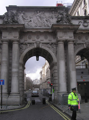 The path through the Admiralty Arch