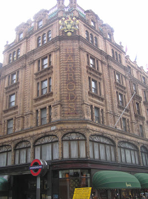 Harrods shop in London's shopping areas