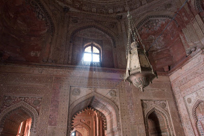 Light rays through a window in Fatehpur Sikri