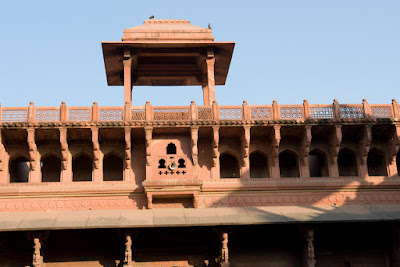 Part of the structure inside Agra Fort