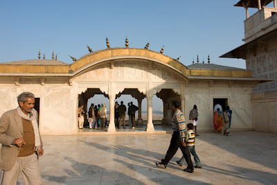 A view of one of the private palaces of the Agra Fort