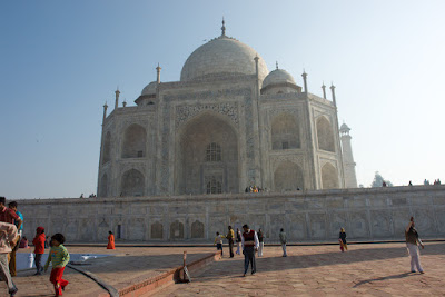 View of Taj from the side including the building base