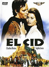El Cid, the 1961 Oscar nominated film starring Charlton Heston and Sophia Loren