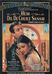 Hum Dil De Chukhe Hain Sanam (HDDCS), starring Salman Khan, Aishwarya Rai, and Ajay Devgun, and directed by Sanjay Leela Bhansali