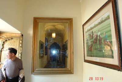 Shooting my photograph in a mirror inside the Jaipur City Palace