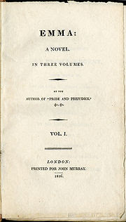 Emma (1815), a book on England in the 19th century by Jane Austen