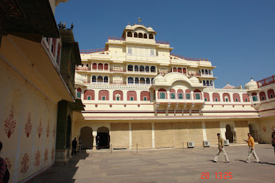 Photo of Courtyard and tourists in the Jaipur City Palace