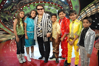 Bappi da with the kids on Zee TV Lil champs