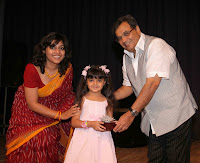 Zaina taking Award from Subhash Ghai for Aap Ki Antara