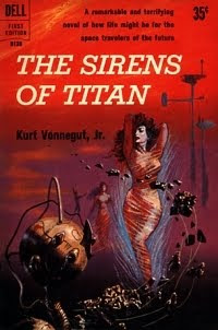 The Sirens of Titan by the author Kurt Vonnegut, Jr, published in 1959