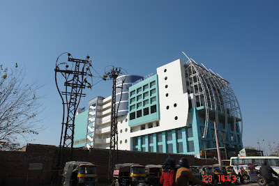 Photo of the architecture of a modern store in Jaipur