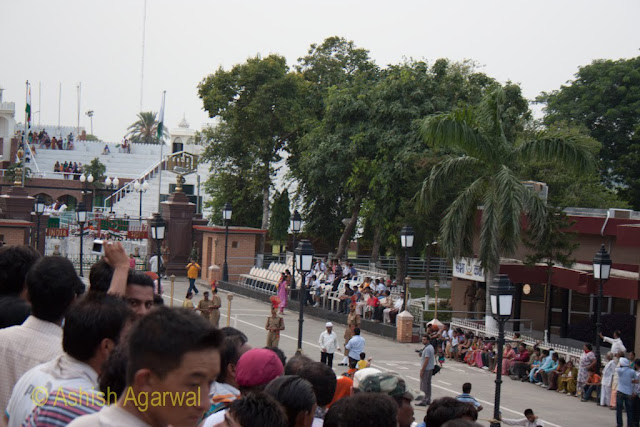 View of photographers standing close to the Wagah border - next time will try and be there