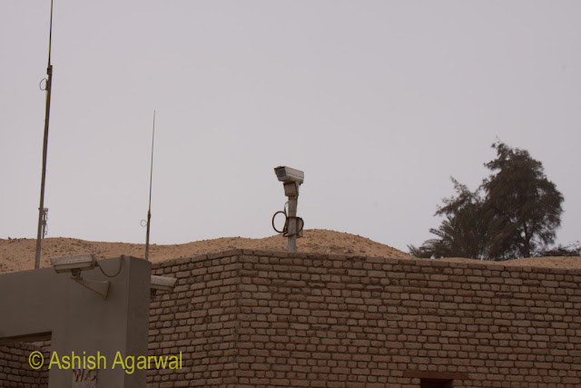 Cairo Pyramids - A security camera near the pyramids