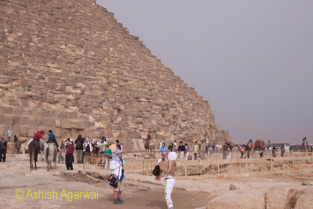Cairo Pyramids - Part of the path leading to the Great Pyramid in Giza