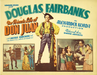 The Private Life of Don Juan (released in 1934) - Starring Douglas Fairbanks and Merle Oberon