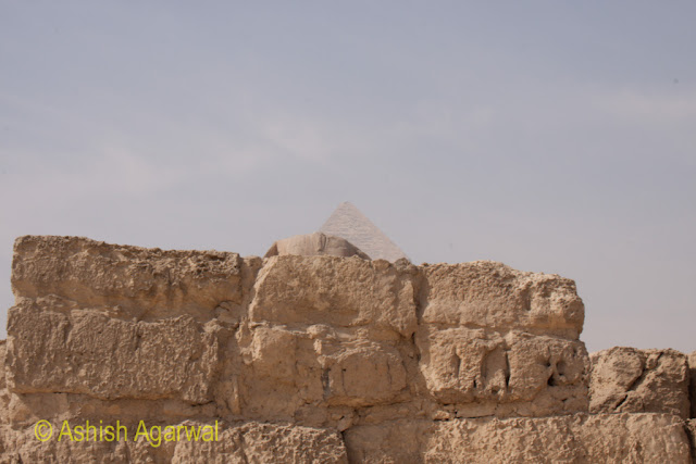 The wall around the compound of the Great Sphinx, right next to the Great Pyramid