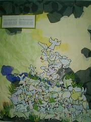 Collage. Interpretación de un cuadro de Ana Roldán
