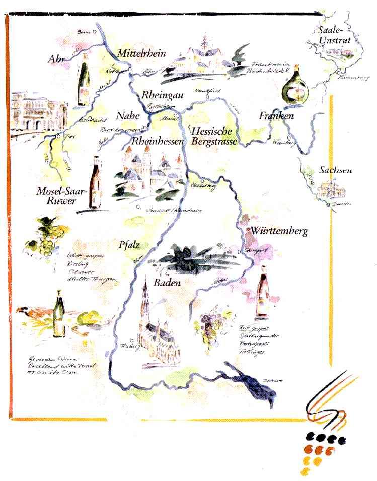 Schillerwine May - Germany vineyards map