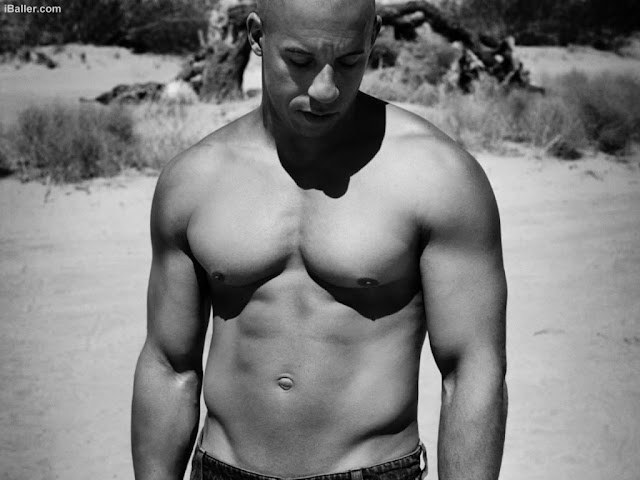 Vin Diesel morocho sexy, actor hot