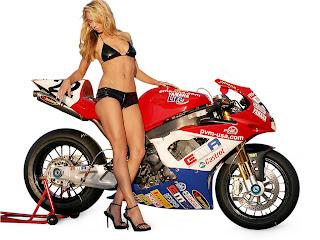 Yamaha YZF-R1 Sportbike Laguna WSBK Babes Wallpapers