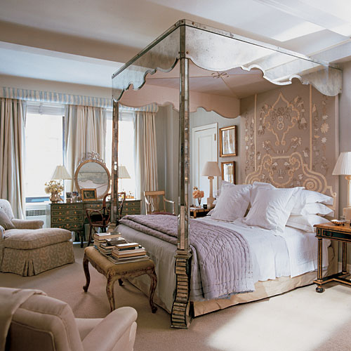 park avenue bedroom have only the tiniest hint of lavender the room