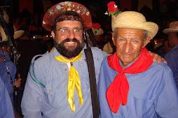 Ivan Marinho e Seu Benedito, herdeiro da Festa da Fazenda Cajazeiras - Caruaru