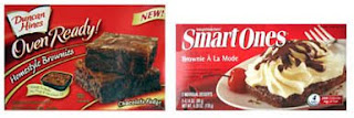Duncan Hines Chocolate Fudge Brownies vs Smart Ones Brownie a la Mode
