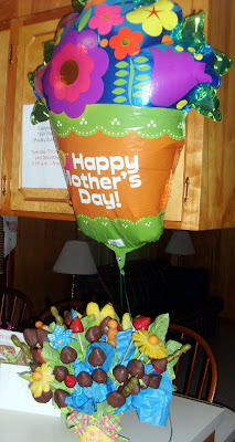 My Mother's Day edible arrangement