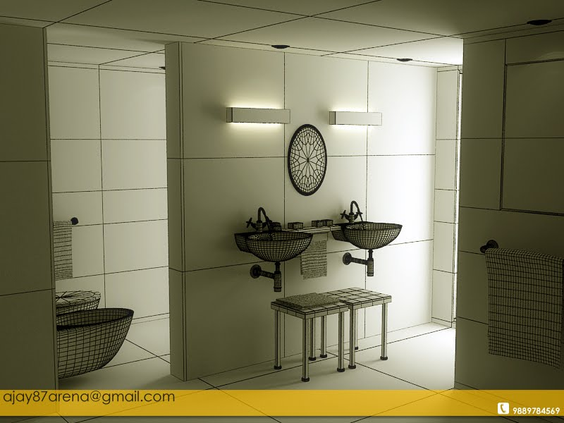 Ajay mishra interior of bathroom in 3ds max vray for Bathroom design 3ds max