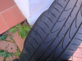 Blistered Tyre from an Impact Fracture