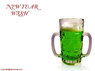 new year green wish