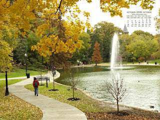 October 2009 Desktop Calendar Wallpaper