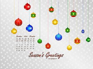 December 2009 Calendar Wallpaper